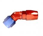 "Fitinka koleno 45 ° D-06 (AN6) 9/16 ""x18-UNF - cutter-system - skrutkovacie (zosilnená s ostrým uhlom)"
