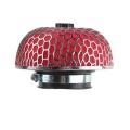 Športový filter univerzálny huba 76mm červený