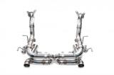 Manifold back výfuk s náhradami katalyzátorů Innotech (IPE) na Ferrari 458 Speciale 4.5 V8 (14-15)