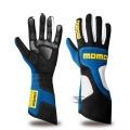 Závodní rukavice Momo X-Treme Pro - modré/černé/bílé