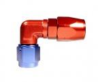 "Fitinka koleno 90 ° D-04 (AN4) 7/16 ""x20-UNF - cutter-system - skrutkovacie (zosilnená s ostrým uhlom)"