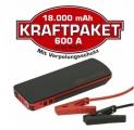 Štartovací box s PowerBank Raid Dino - 12V - 18000mAh 600A