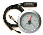 Prídavný budík Innovate Motorsports G2 + LC-2 O2 kontrolér - wideband kit (širokopásmová lambda sonda) - strieborný