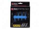 Kolesové racingové matice (štifty) D1 Spec závit M12 x 1.25 - čierne