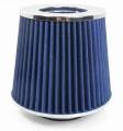 Športový filter univerzálny 60/65/70/76 / 90mm modrý