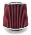 Športový filter univerzálny 76mm červený
