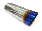 Koncovka výfuku guľatá skosená s titánovým efektom - priemer 85mm