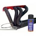 Termo izolačné kit na výfuk Thermotec (čierna páska 50mm x 15m, sprej, sťahovačky) - V4 / moto