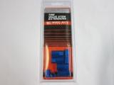 Kryty TPMS ventilků s čepičkami - modrý elox