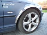 Chromové lemy blatníků Peugeot 206, 3/5-dvéř. hatchback, cabrio