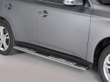 Nerez boční designové nášlapy Mitsubishi Outlander III
