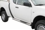 Nerez boční nášlapy se stupátky Mitsubishi L200 Club Cab