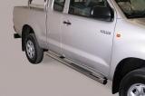 Nerez boční nášlapy se stupátky Toyota Hi Lux extra cab