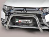 Nerezový přední ochranný rám 76mm Mitsubishi Outlander III facelift