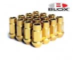 Kolesové racingové matice (štifty) Blox závit M12 x 1.25 - zlaté