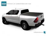 Hliníkové víko korby Toyota Hilux REVO doublecab - černé