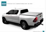 Hliníkové víko korby Toyota Hilux REVO doublecab - stříbrné