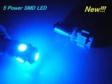 LED parkovací světla 1895 / BA9S / T4W modré