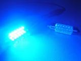 Sufitová žárovka 211 / 212 18x SMD 39mm jiskřivě modrá