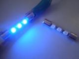 Sufitová žárovka Vanity 3x SMD 31mm modrá