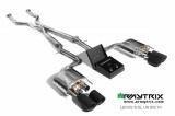 Catback výfukový systém Armytrix na Lexus RC-F 5.0 V8 467PS 2UR-GSE (14-) - černé koncovky