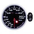 Prídavný budík Depo Racing Peak - tlak turba elektronický do 3bar