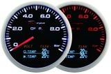 Prídavný budík Depo Racing WA 4in1 - tlak oleja, voltmeter, teplota oleja, teplota vody