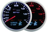 Prídavný budík Depo Racing WA 4in1 - tlak turba, voltmeter, tlak oleja, teplota oleja