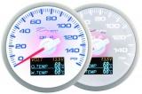 Prídavný budík Depo Racing WBL 4in1 - tlak oleja, voltmeter, teplota oleja, teplota vody