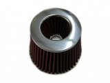Športový filter univerzálny 60/65/70/75 / 80mm červený