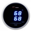Prídavný budík Depo Racing Digital Blue LED - duálny teplota nasávaného vzduchu (IAT)