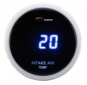 Prídavný budík Depo Racing Digital Blue LED - teplota nasávaného vzduchu (IAT)