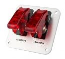 Štartovací panel hliníkový - 2x prepínač kill switch