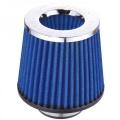 Športový filter univerzálny Simota 76mm chróm / modrý