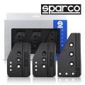 Pedále Sparco Settanta Black - hliníkové čierne