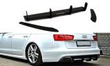 Stredový spojler pod zadný nárazník Audi A6 S-Line C7 (one double exhaust end) 2011-2014