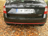 Stredový spojler pod zadný nárazník Škoda Octavia RS Mk3 Hatchback/Estate 2013-2016