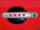 Kryty klik - děrované, stříbrné matné, (4+4 ks dva zámky)