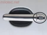 Kryty klik malé, nerez (ušlechtilá ocel), 1x s otvorem + 3x bez