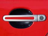 Kryty klik - oválný otvor, stříbrné matné, (4+4 ks jeden zámek)