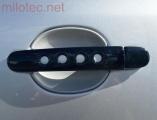 Kryty klik - děrované, černá metalíza, (2+2 ks bez zámku), Roomster 2006-2010 / Roomster Facelift od