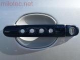 Kryty klik - děrované, černá metalíza, (2+2 ks jeden zámek), Roomster 2006-2010 / Roomster Facelift