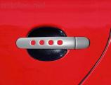 Kryty klik - děrované, stříbrné matné, (2+2 ks bez zámku), Roomster 2006-2010 / Roomster Facelift od