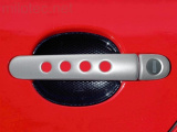 Kryty klik - děrované, stříbrné matné, (2+2 ks jeden zámek), Roomster 2006-2010 / Roomster Facelift