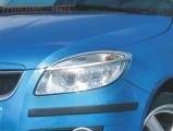 Kryty světlometů (rámečky), stříbrné matné, Škoda Fabia II. Limousine 2007-2010