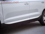 Lišty bočních dveří M-TRACK - stříbrné matné, Karoq od r.v. 2017