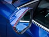 Design lišta zpětných zrcátek - červená. Škoda Superb II. 2008 - 2015