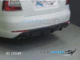 Difuzor zadního nárazníku - černý desén - sedan/combi, Škoda Octavia II facelift