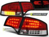 Zadné l'ad svetlá Audi A4 B7 4/11/03/08 sedan,červená bílá
