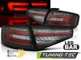 Zadné l'ad svetlá Audi A4 B8 12-15 sedan, led žárovka s čárovými světly černá SEQ